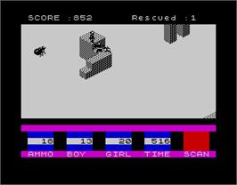 In game image of Ant Attack on the Sinclair ZX Spectrum.