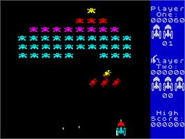 In game image of Arcade Classics on the Sinclair ZX Spectrum.