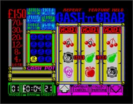 In game image of Arcade Fruit Machine on the Sinclair ZX Spectrum.