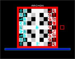 In game image of Archon: The Light and the Dark on the Sinclair ZX Spectrum.