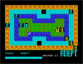 In game image of Archon II: Adept on the Sinclair ZX Spectrum.