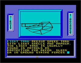 In game image of Arcticfox on the Sinclair ZX Spectrum.