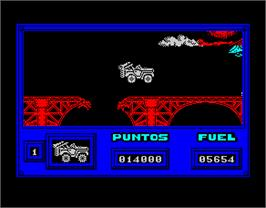 In game image of Army Moves on the Sinclair ZX Spectrum.