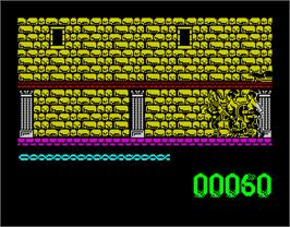 In game image of Artura on the Sinclair ZX Spectrum.