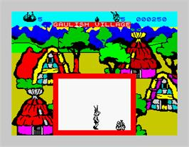 In game image of Asterix and the Magic Cauldron on the Sinclair ZX Spectrum.