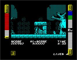 In game image of Athena on the Sinclair ZX Spectrum.