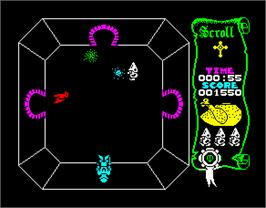 In game image of Atic Atac on the Sinclair ZX Spectrum.