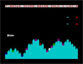 In game image of Avenger on the Sinclair ZX Spectrum.