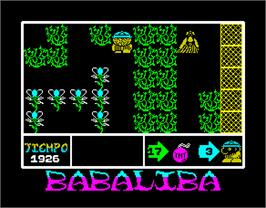 In game image of Babaliba on the Sinclair ZX Spectrum.