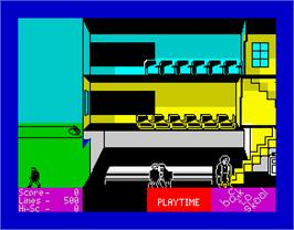 In game image of Back to Skool on the Sinclair ZX Spectrum.