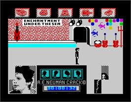 In game image of Back to the Future on the Sinclair ZX Spectrum.