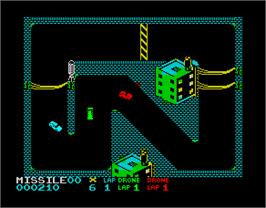 In game image of Badlands on the Sinclair ZX Spectrum.