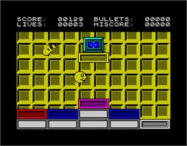 In game image of Ball Crazy on the Sinclair ZX Spectrum.