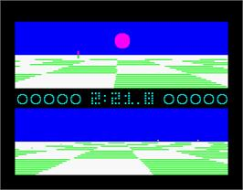 In game image of Ballblazer on the Sinclair ZX Spectrum.