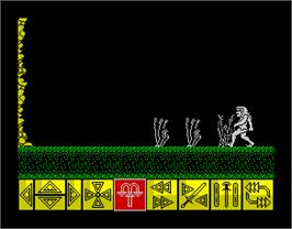 In game image of Barbarian on the Sinclair ZX Spectrum.