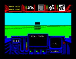 In game image of Battle Command on the Sinclair ZX Spectrum.
