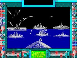 In game image of Battleship on the Sinclair ZX Spectrum.