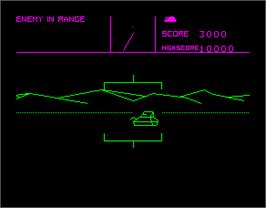 In game image of Battlezone on the Sinclair ZX Spectrum.