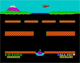 In game image of Beach Head II: The Dictator Strikes Back! on the Sinclair ZX Spectrum.