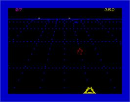 In game image of Beamrider on the Sinclair ZX Spectrum.