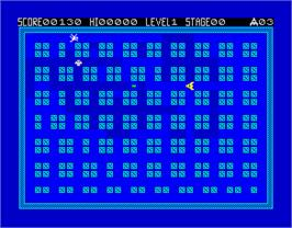 In game image of Bedlam on the Sinclair ZX Spectrum.