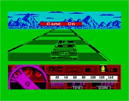 In game image of Beverly Hills Cop on the Sinclair ZX Spectrum.