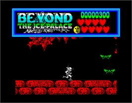 In game image of Beyond the Ice Palace on the Sinclair ZX Spectrum.