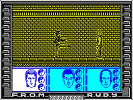 In game image of Big Trouble in Little China on the Sinclair ZX Spectrum.