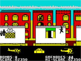 In game image of Biggles on the Sinclair ZX Spectrum.