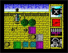 In game image of Black Beard on the Sinclair ZX Spectrum.