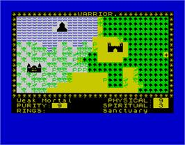 In game image of Black Crystal on the Sinclair ZX Spectrum.