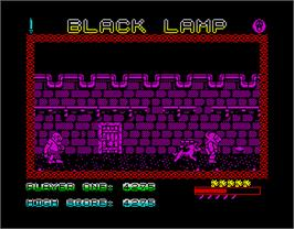In game image of Black Lamp on the Sinclair ZX Spectrum.