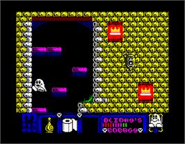 In game image of Blinky's Scary School on the Sinclair ZX Spectrum.