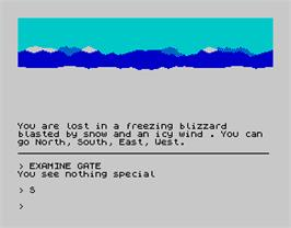 In game image of Blizzard Pass on the Sinclair ZX Spectrum.