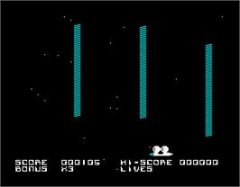 In game image of Blockade Runner on the Sinclair ZX Spectrum.