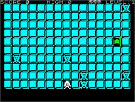 In game image of Blockbuster on the Sinclair ZX Spectrum.