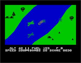 In game image of Blue Max on the Sinclair ZX Spectrum.