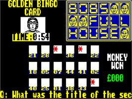In game image of Bob's Full House on the Sinclair ZX Spectrum.