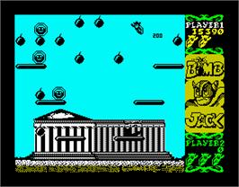 In game image of Bomb Jack on the Sinclair ZX Spectrum.