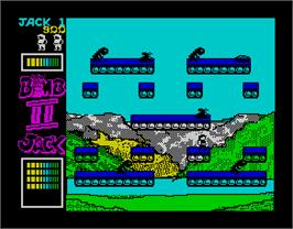 In game image of Bomb Jack II on the Sinclair ZX Spectrum.