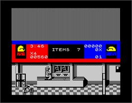 In game image of Bonanza Bros. on the Sinclair ZX Spectrum.