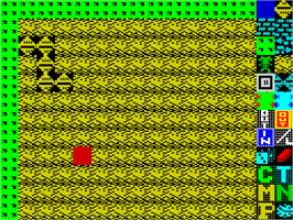 In game image of Boulder Dash Construction Kit on the Sinclair ZX Spectrum.