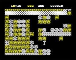 In game image of Boulderdash II: Rockford's Revenge on the Sinclair ZX Spectrum.