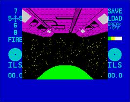 In game image of Braxx Bluff on the Sinclair ZX Spectrum.