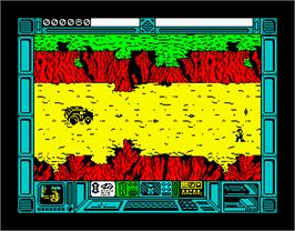 In game image of Breakthru on the Sinclair ZX Spectrum.