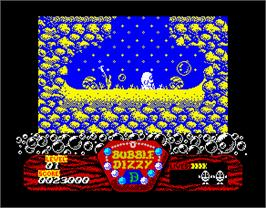 In game image of Bubble Dizzy on the Sinclair ZX Spectrum.