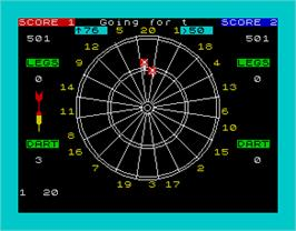 In game image of Bullseye on the Sinclair ZX Spectrum.