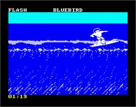 In game image of California Games on the Sinclair ZX Spectrum.