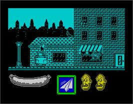 In game image of Capitán Sevilla on the Sinclair ZX Spectrum.