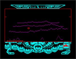 In game image of Captain Blood on the Sinclair ZX Spectrum.